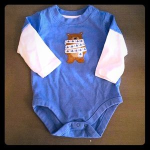Winter diaper shirt from Gymboree